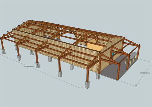 Plan Charpente Bois - Construction de votre charpente en boisà Nantes Construction bois BCB spécialiste en