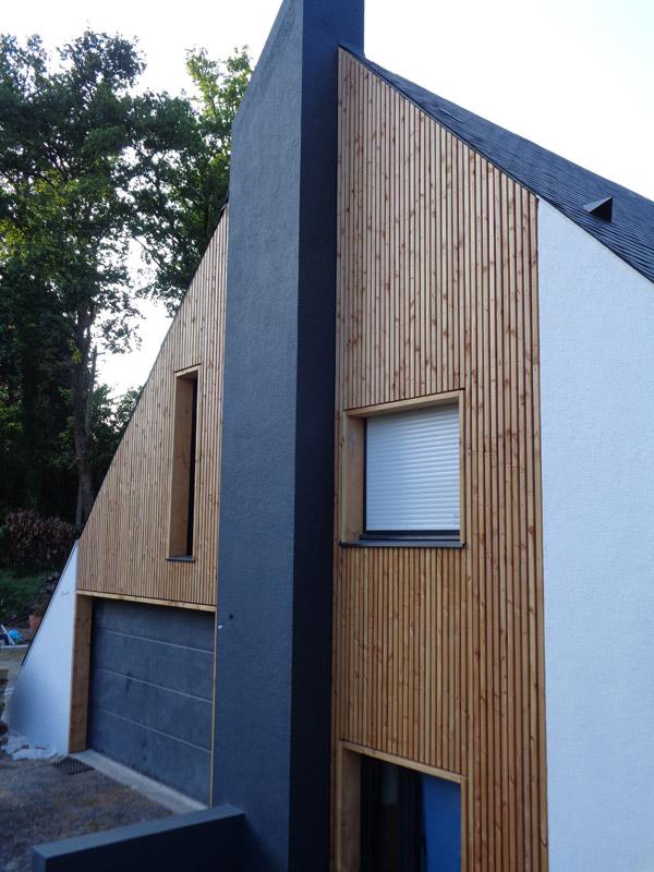 Ossature bois, Bardage & Terrasse bois à SucésurErdre Nantes 44
