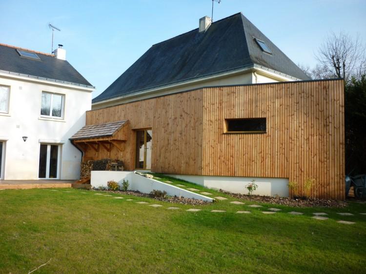 Extension en ossature bois orvault nantes 44 - Extension en ossature bois ...