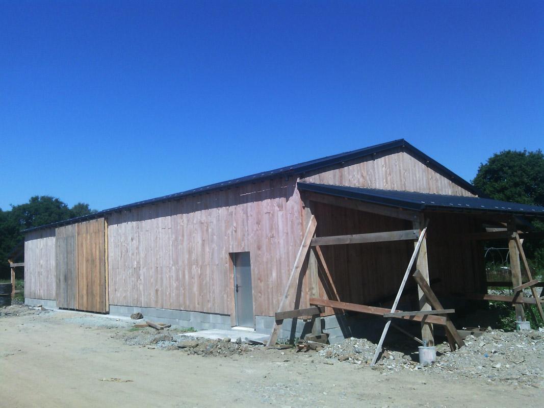 Hangar Agricole en Charpente Traditionnelle - Construction ... - Hangar Agricole